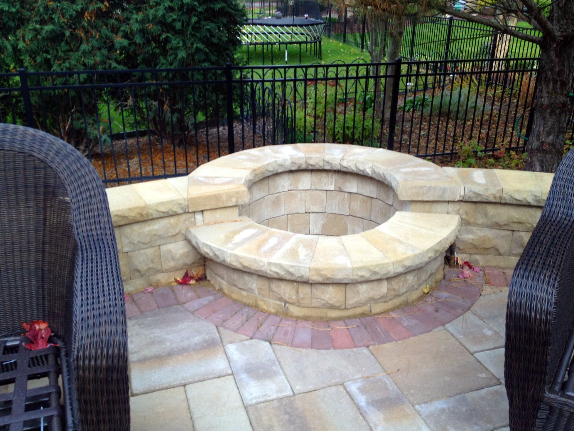 Built In Patio Fire Pit By Aurora, IL Patio Builder   Design Ideas