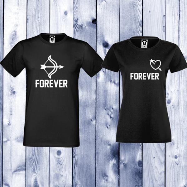 3809f6496412 ... ΜΠΛΟΥΖΑΚΙΑ ΓΙΑ ΖΕΥΓΑΡΙΑ by TShirt24. Σετ μαύρες μπλούζες με στάμπα  Forever Arrows