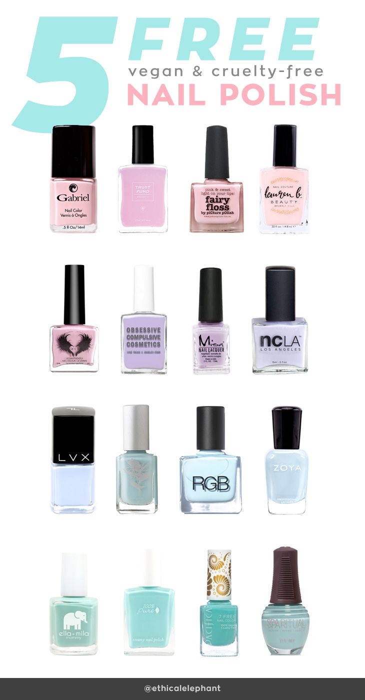 List of 5-Free Vegan and Cruelty-Free Nail Polish Brands | Nail ...