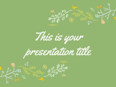 Nature and flowers free Powerpoint template or Google Slides theme - fresh google docs certificate template