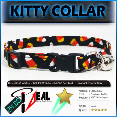Breakaway Safety Cat Collar Holloween Corn Candy P Cat Collars Pink Dots Candy Stripes