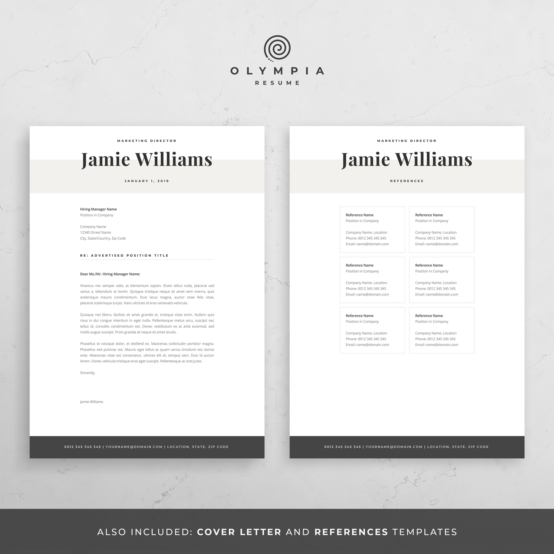 Modern Resume Template Creative Cv For Word Elegant Design Cover Letter Marketing Designer Teacher Medical Nurse Legal Jamie Modern Resume Template Creative Resume Templates Creative Cv Template
