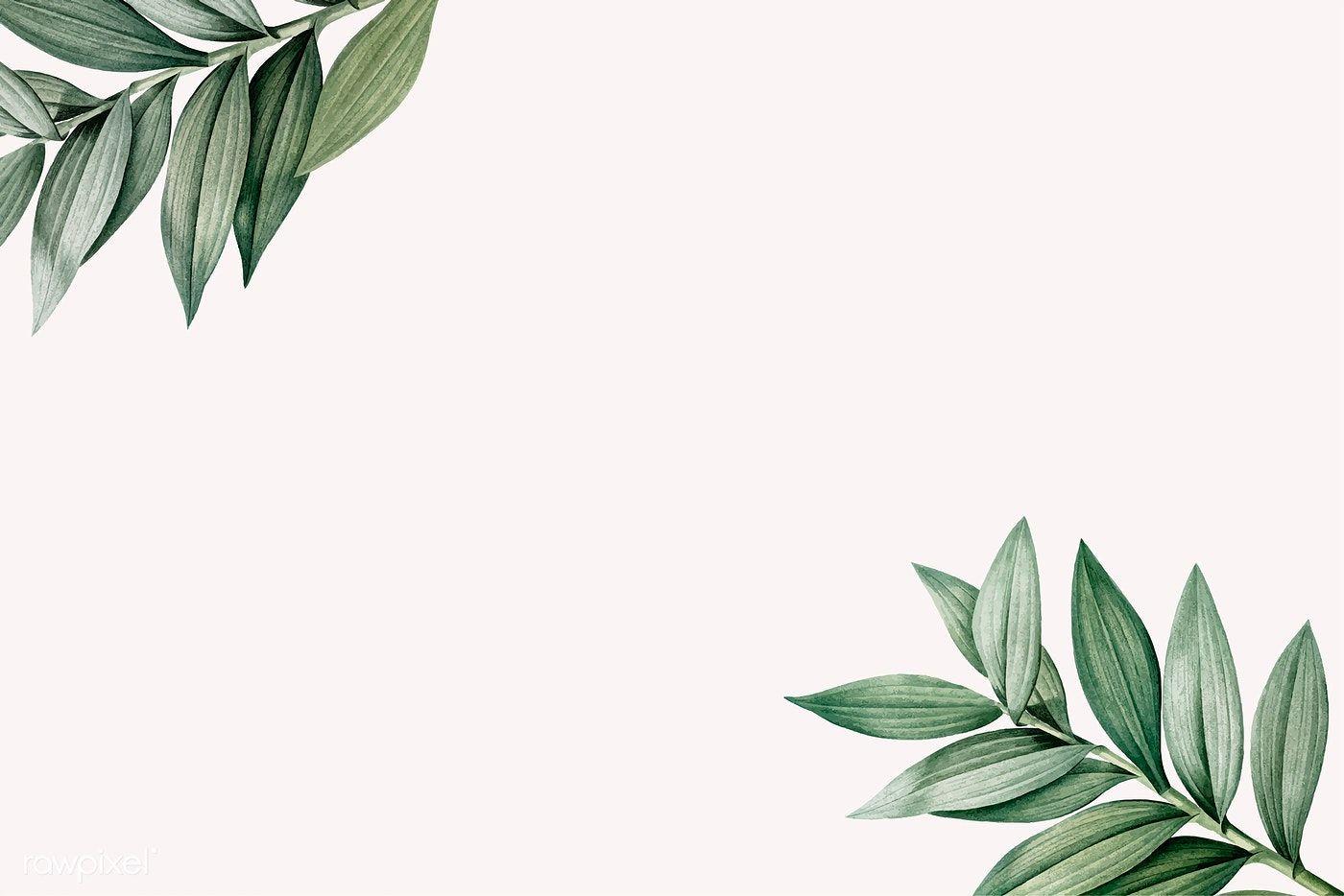 Download Premium Vector Of Tropical Botanic Leaves Background