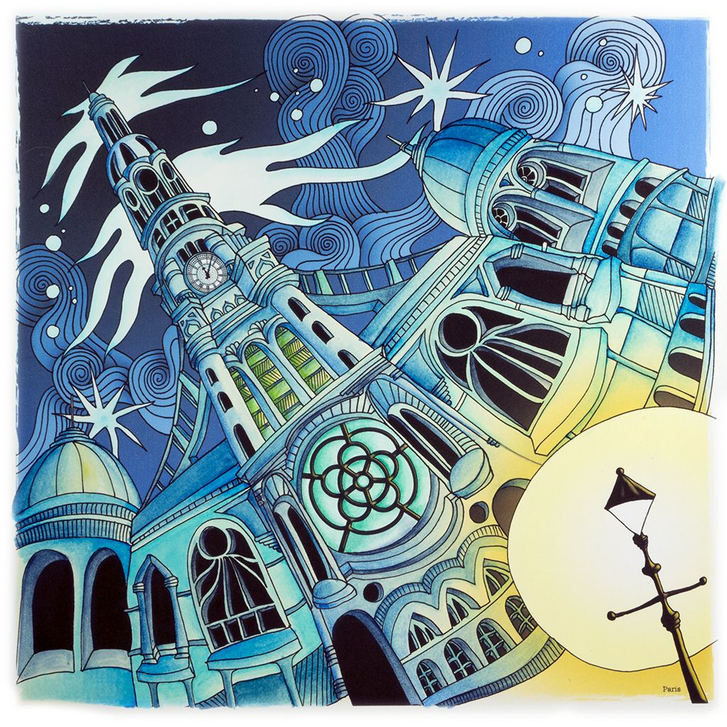 Paris From Lizzie Mary Cullen Book Magical City Colored By Me