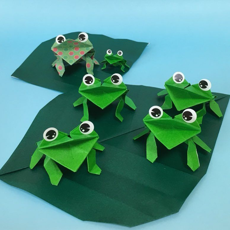 作り方 折り紙 カエル の 折り紙のカエルの折り方!立体でリアルな作り方を動画と折り図で紹介!