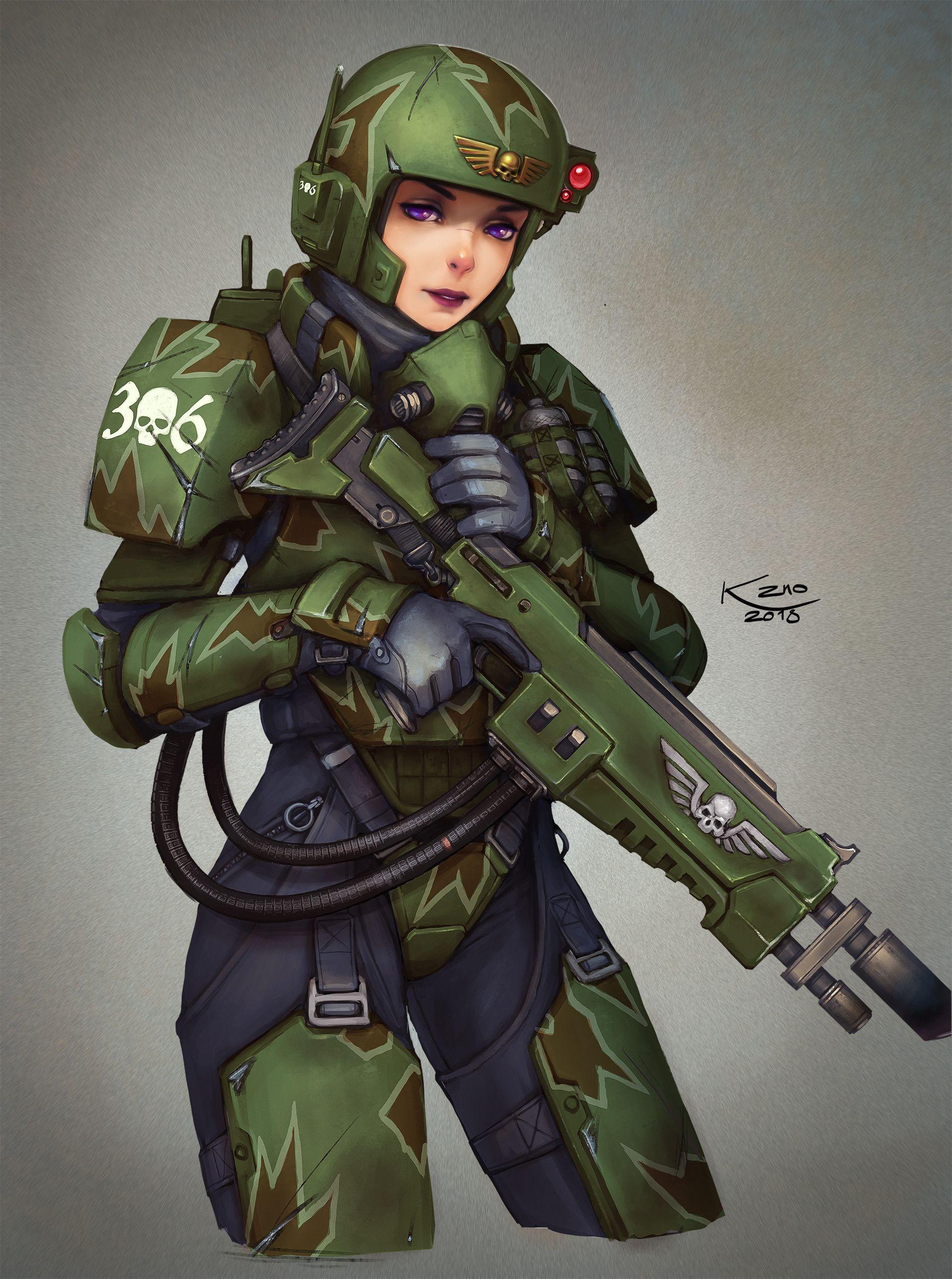 Female Imperial Guard Kasrkin | Warhammer 40K | Warhammer ...