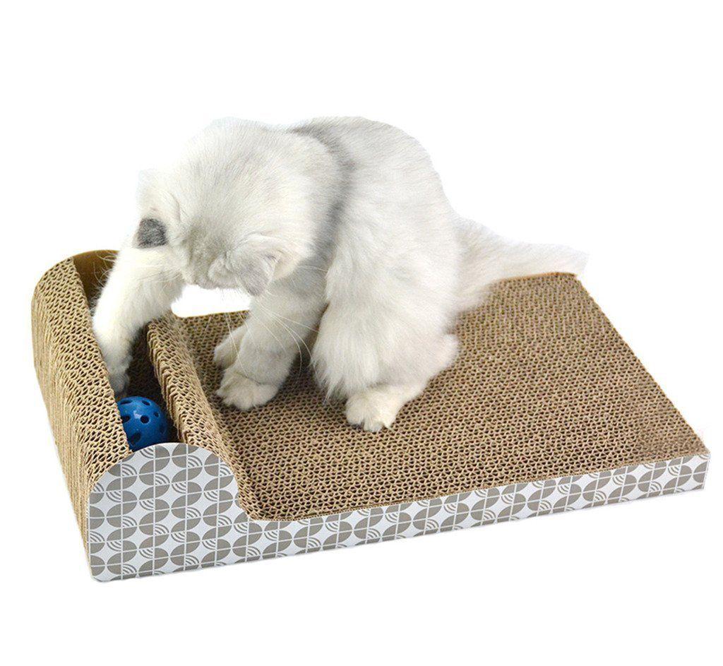 UBEST Cat Scratcher Lounge With Ringing Balls, 45.72x24
