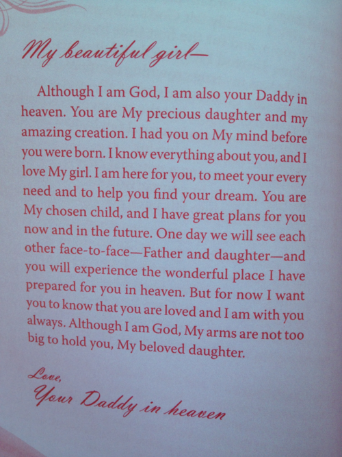 Letter from Daddy in Heaven to His Princess.   1 | Faith