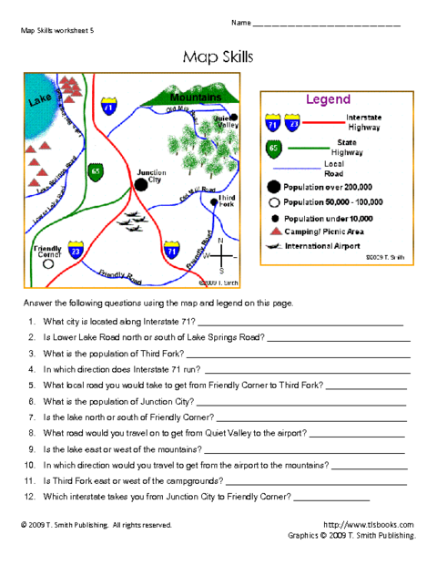 Education world tls005pdf education pinterest pdf map use the map key legend to help you answer questions about the map skills map skills directions reading map symbols using a map key gumiabroncs Images