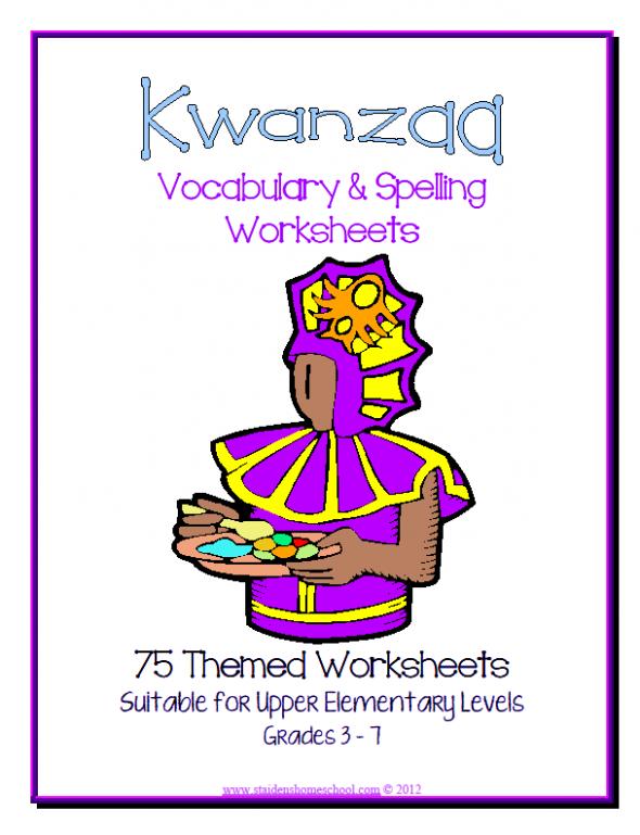 75 Kwanzaa Worksheets Grades3-7 | Kwanzaa printables, books and ...