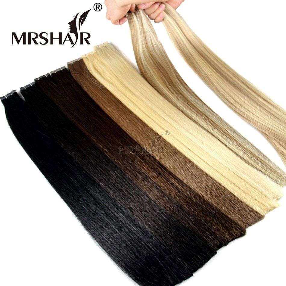 2017 New Tape In Human Hair Double Drawn Remy Skin Weft Hair