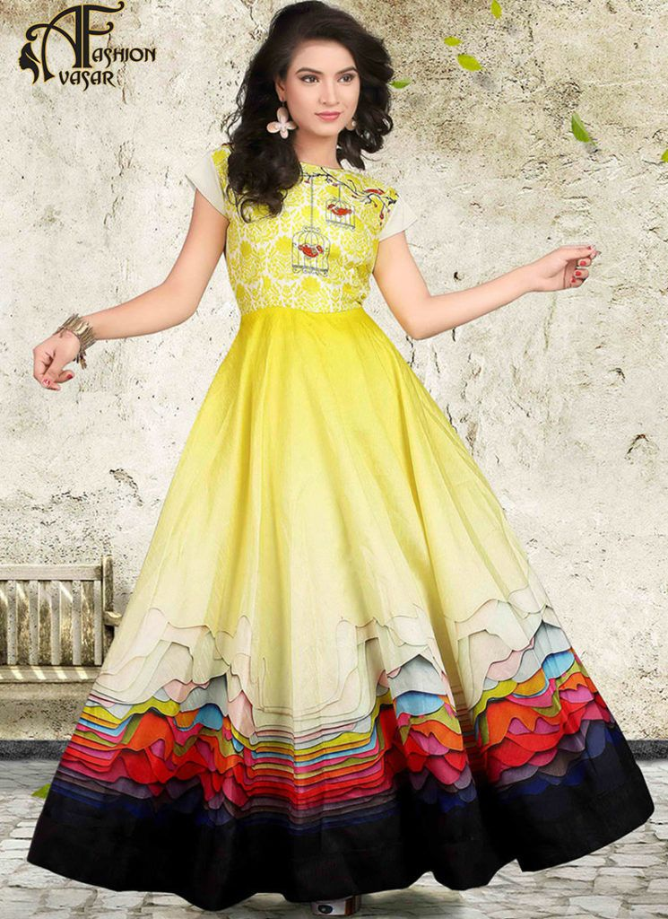 Yellow Gown Online Shopping India | avasarfashion.com | Pinterest ...