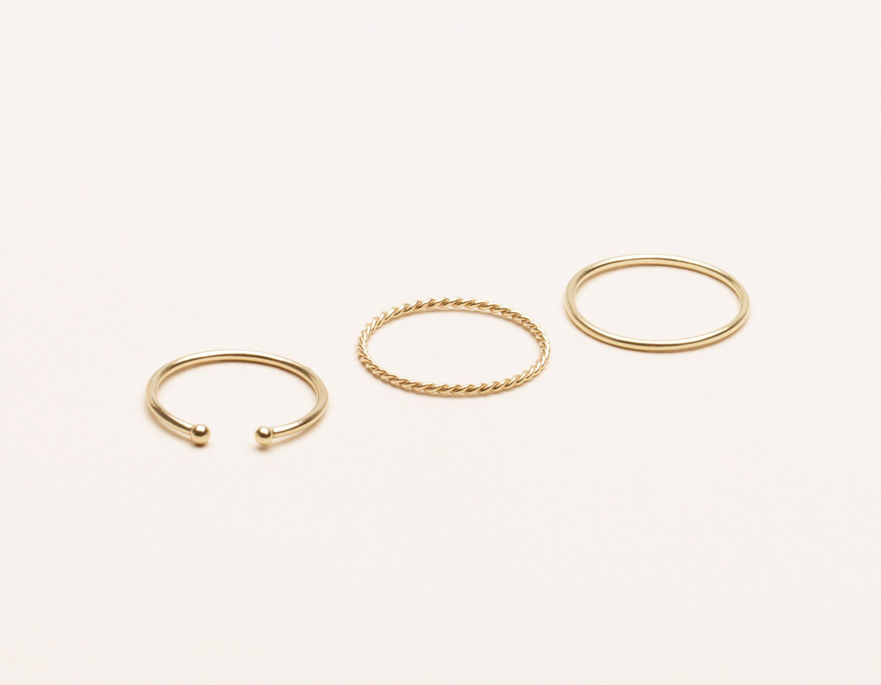 422bf480507680 Minimal Vrai & Oro 14k Yellow Gold Stacking Rings. vrai and Oro delicate  14k solid gold classic simple stack ...