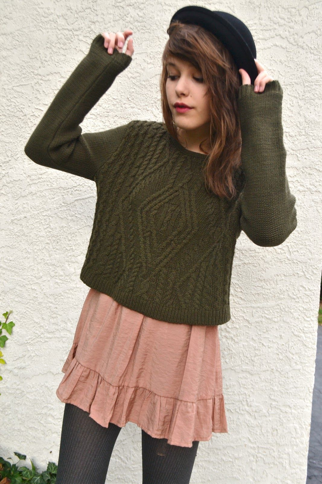 slouchy sweaters over dresses