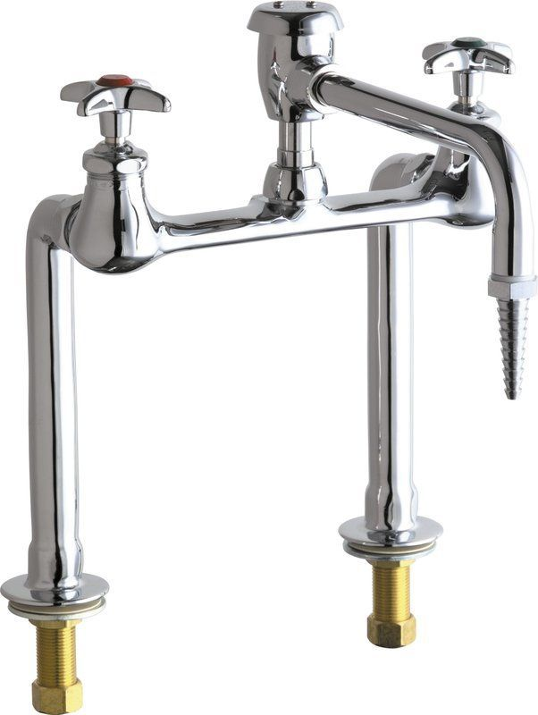 Chicago Faucets 941-VBE7 Bridge Style Lab Faucet with Cross ...