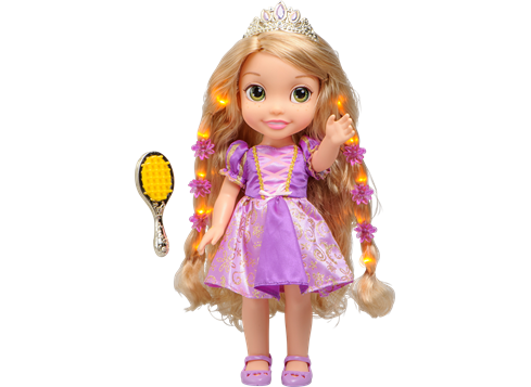 Disney Princess Hair Glow Rapunzel Dukke