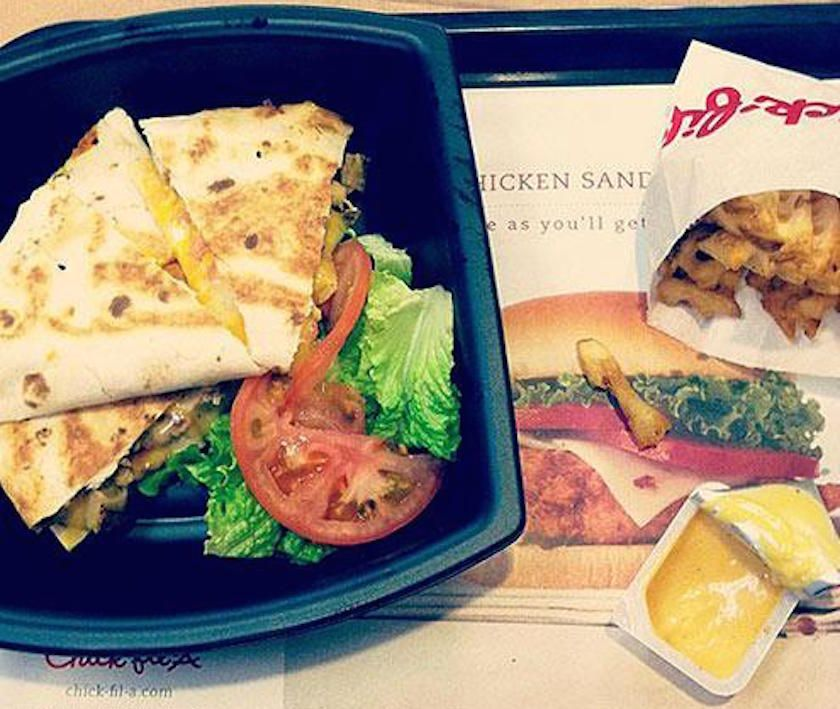 Hidden Menu Items From Your Favorite Restaurants : Chick-Fil-A: Chicken Quesadilla