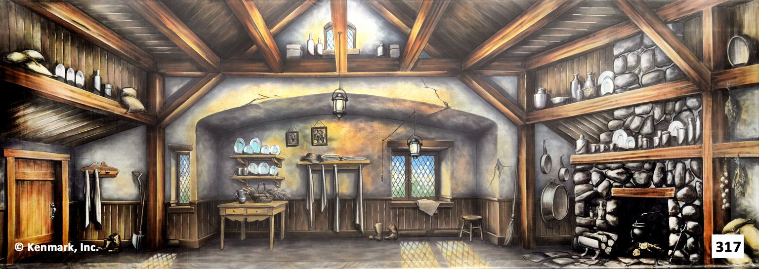 317d Cottage Interior Theatrical Backdrop Rentals By Kenmark