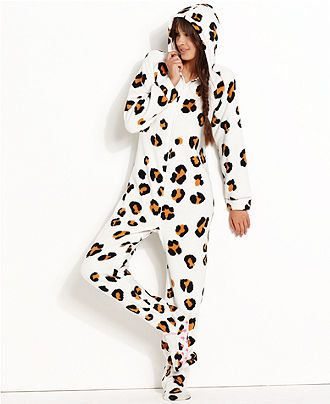 Jenni Pajamas, Hooded Footed Pajamas - Womens PAJAMAS & ROBES ...