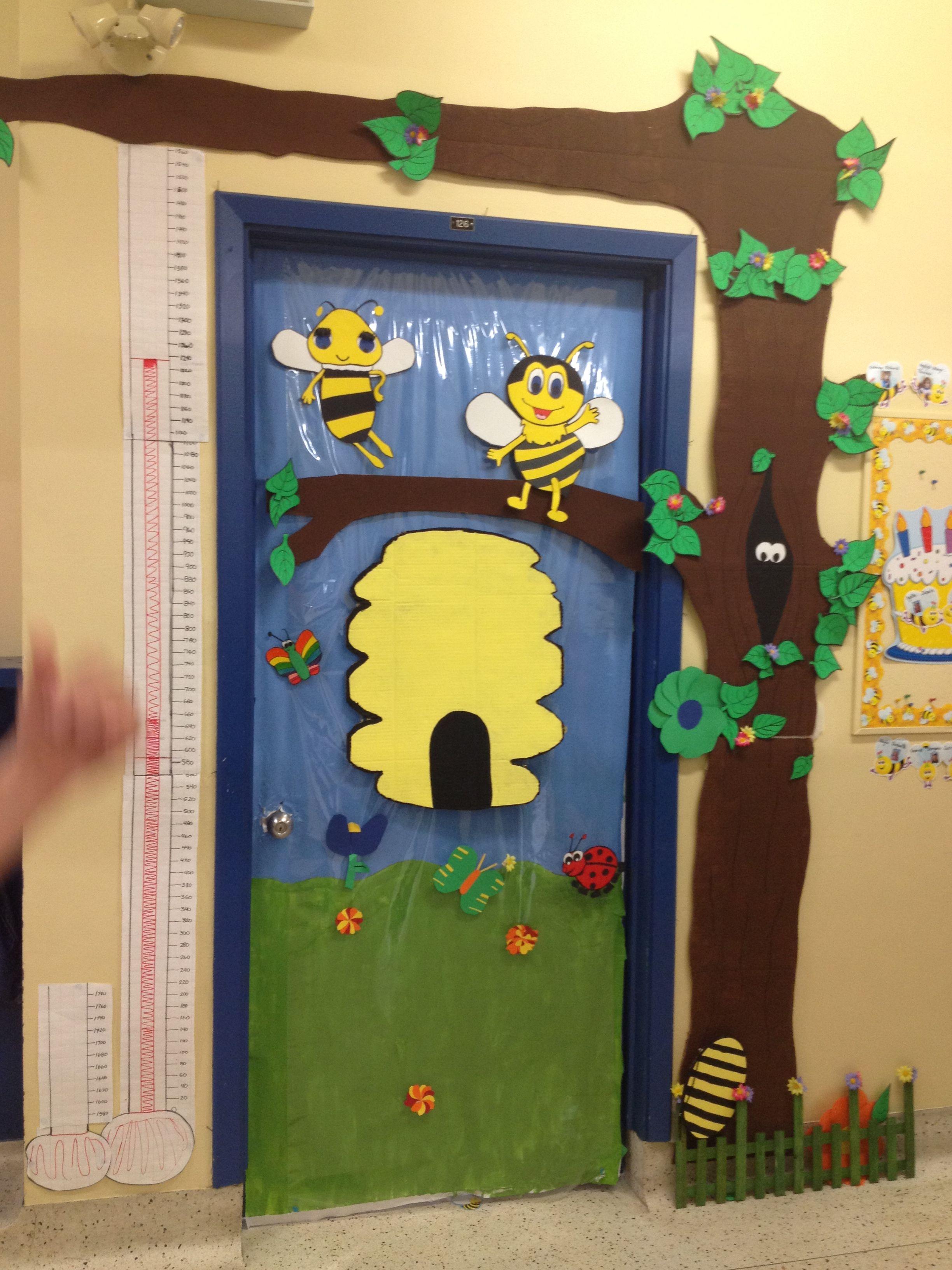 Classroom door decorations: bee hive | Classroom ...