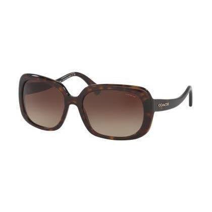 ce6fb018ca Coach Women HC8178 L1591 512013 Havana Rectangle Sunglasses ...