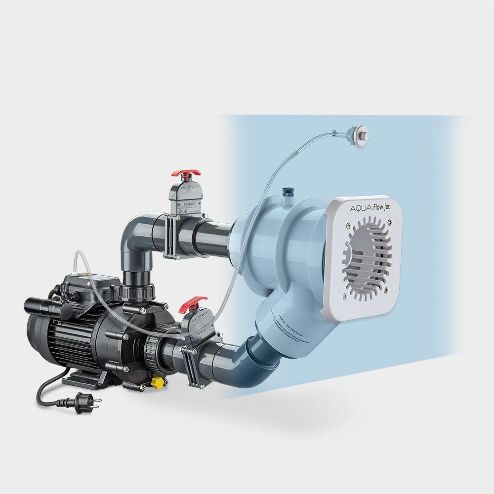 Einbau Gegenstromanlage Poolsana Aqua Flow Jet Gegenstromanlage