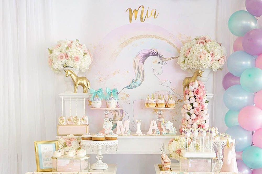 Darling Pinterest Unicorn Birthday Party Baby Birthday Themes
