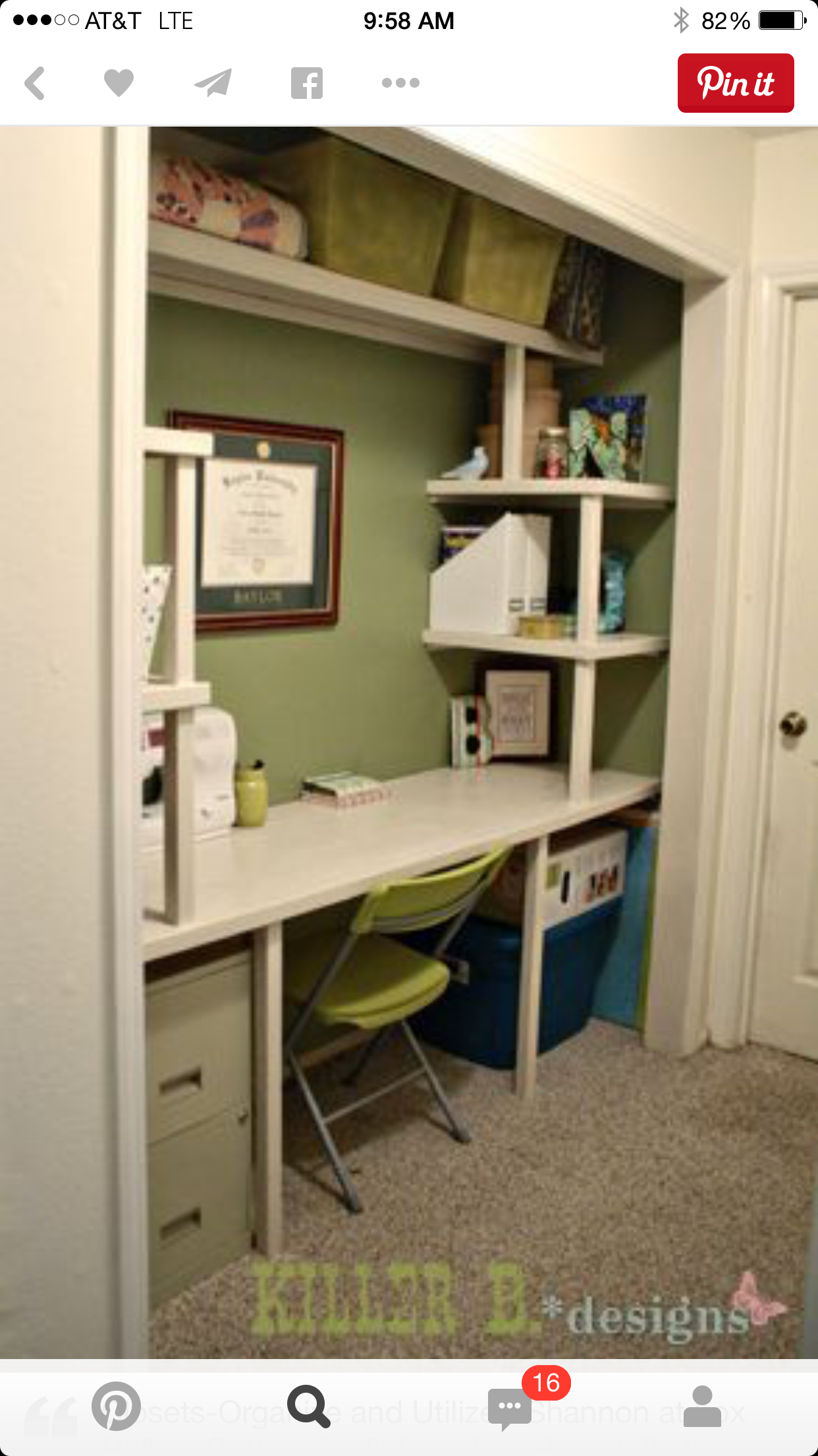 closet office space. Craft Closet Makeover, Closet, Rooms, Studio, Guest Room With Office Space