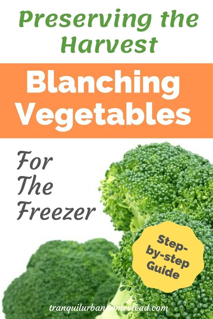 Easy stepbystep guide to blanching vegetables for