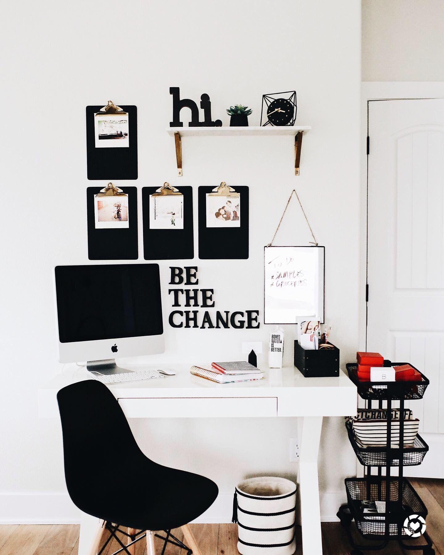 Modern Office In 2020 White Office Decor White Room Decor