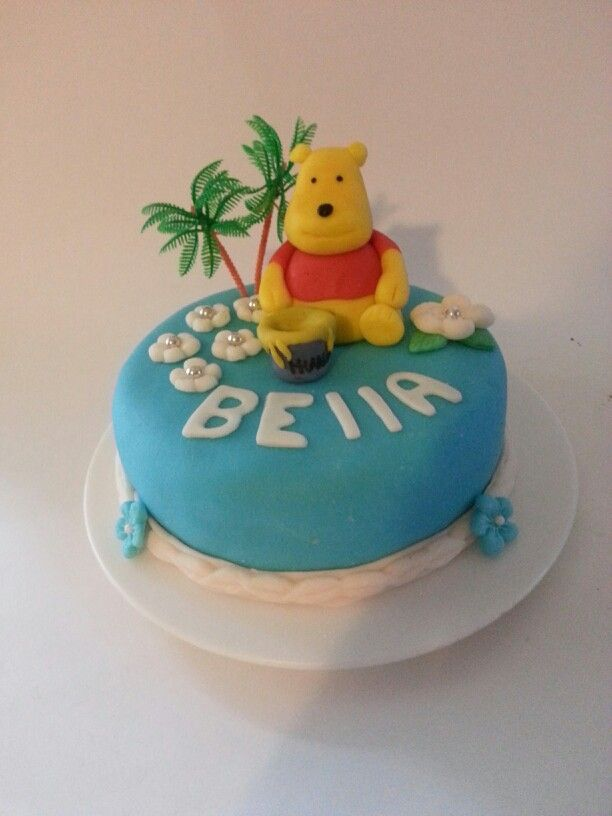 Winnie the pooh inspired cake