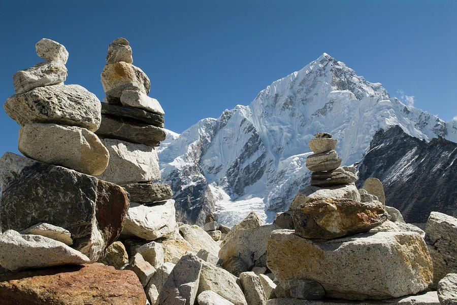 Himalayan cairns mount everest base camp everest mount