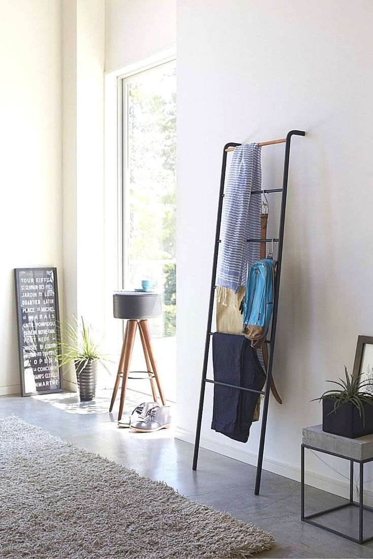 Fashioned like a ladder and made of steel this hanger made by