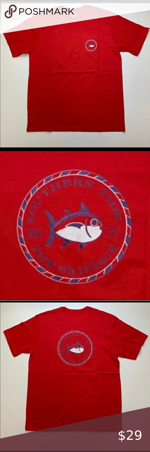 Southern Tide Tee In 2020 Southern Tide Tees Print Logo