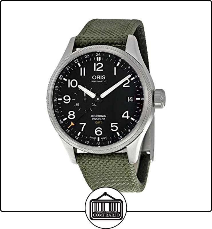 Oris Big Crown Pro Pilot automático Negro Dial reloj para hombre de tela y verde oliva 748-7710-4164grfs de  ✿ Relojes para hombre - (Lujo) ✿