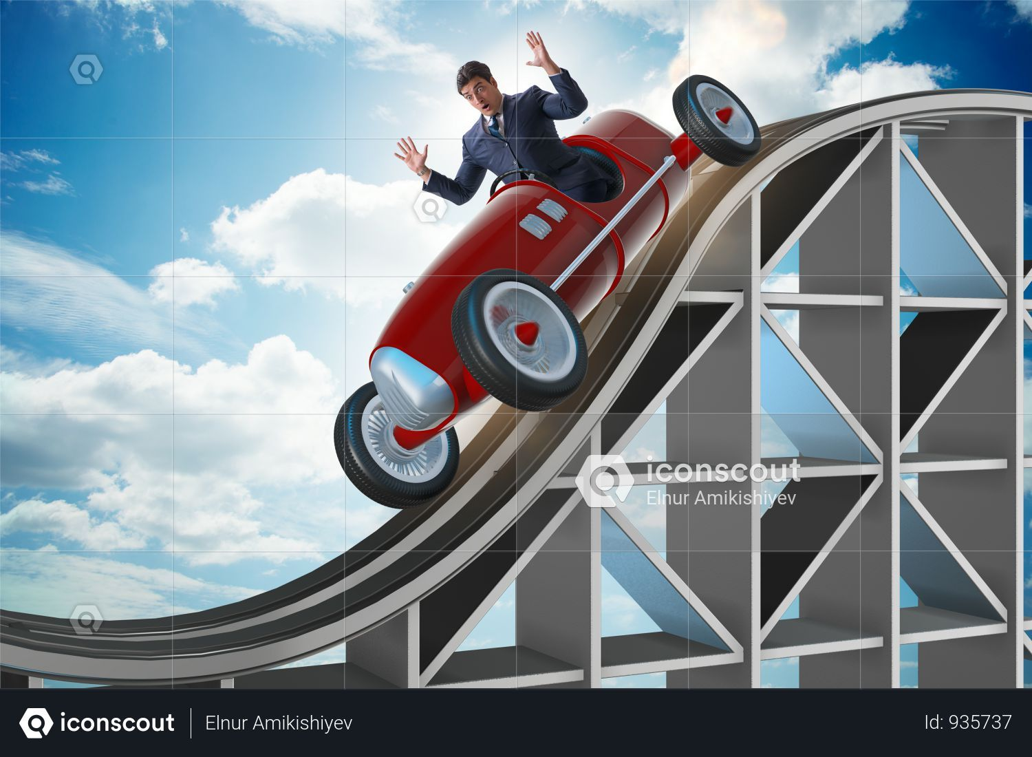 Premium Businessman Driving Sports Car On Roller Coaster Photo Download In Png Jpg Format Roller Coaster Sports Car Roller