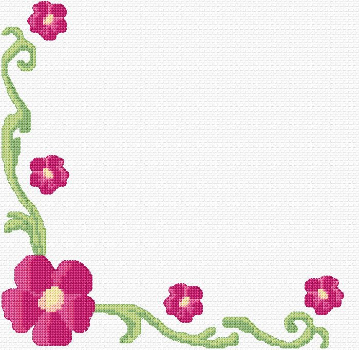 Cross stitch floral border xstitch chart design embroidery  pinterest and designs also rh