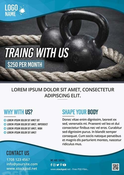 Personal Training Flyer Templates