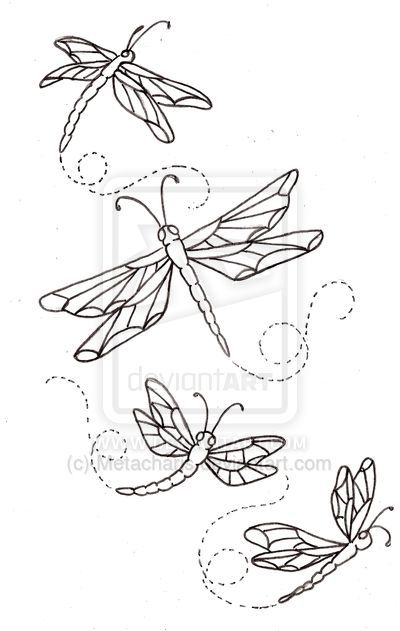4 Dragonfly Tattoo Designs Mas
