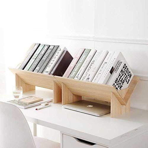 Homesto Solid Wood Assembled Bookshelf On Desk Landing Small Bookcase Student Desktop Shelf Simple Bookshelves For Small Spaces Small Bookcase Small Bookshelf