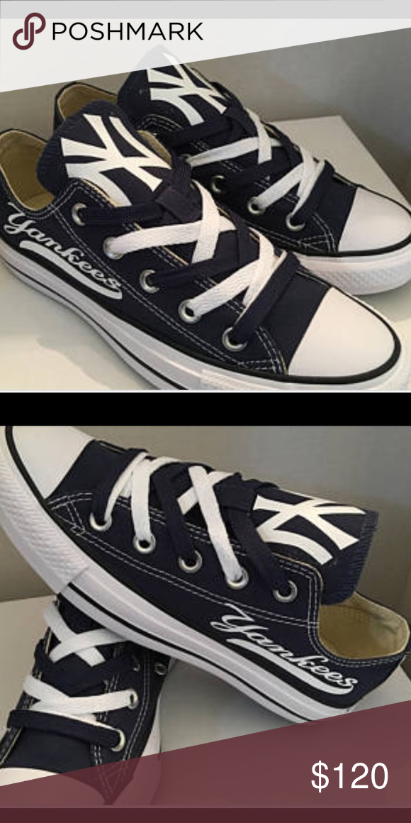 73b7ed814db72 NY Yankees Converse Custom Shoes You are always on the lookout for ...