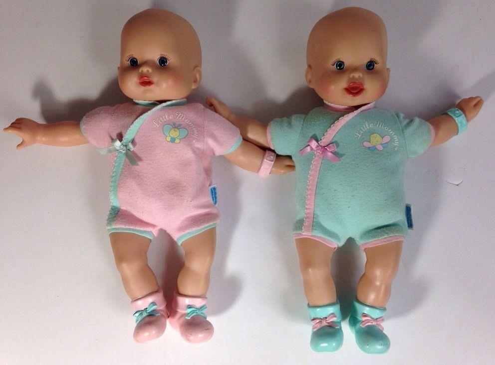 2 Fisher Mattel 2006 Little Mommy Baby Doll Newborn