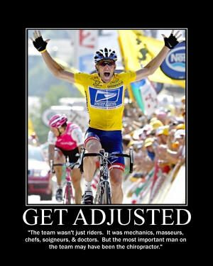 Lance Armstrong Knows The Importance Of Getting Adjusted So Why