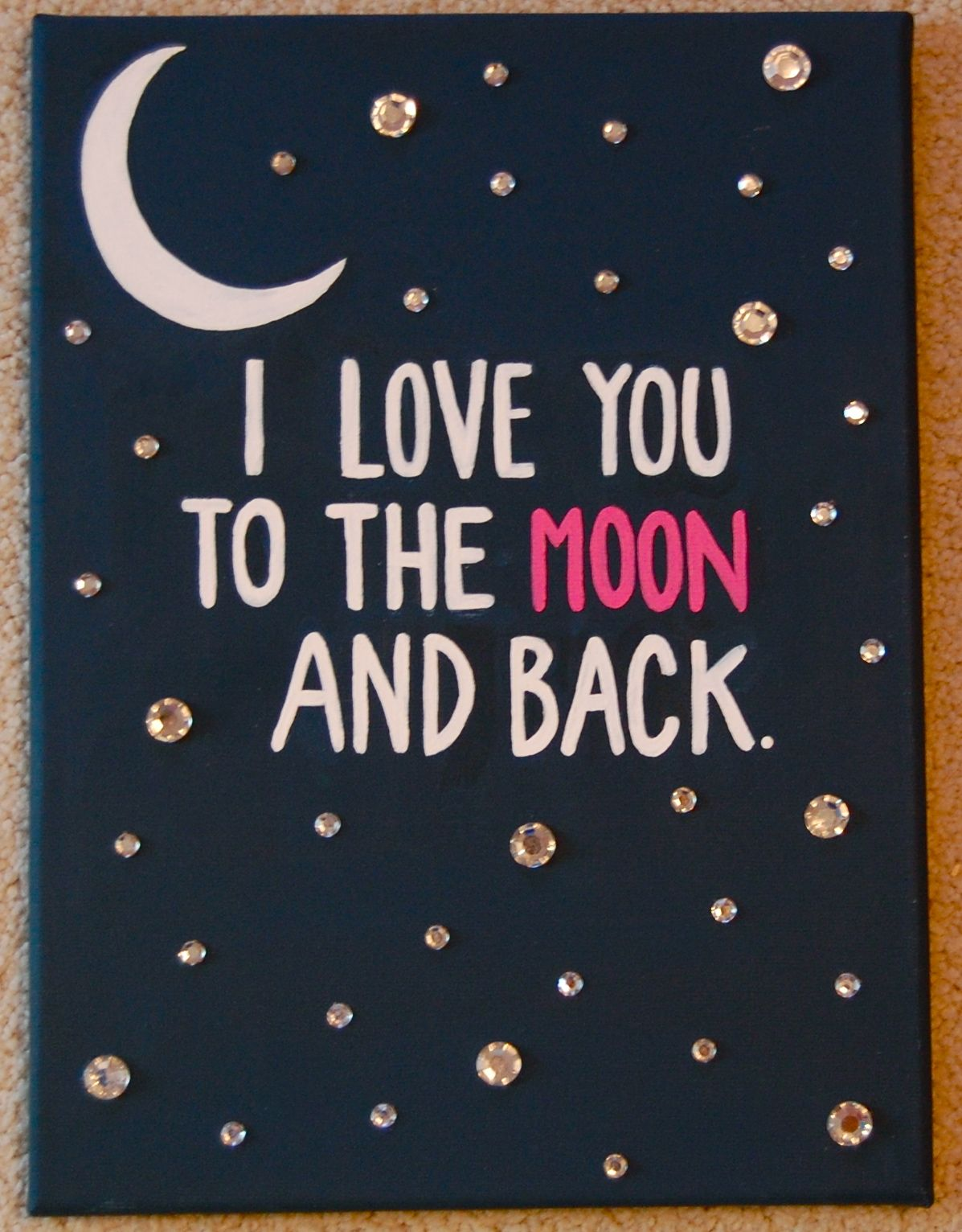 Panneau Salle De Bain Gamma ~ i love you to the moon and back craft gamma phi beta gamma phi