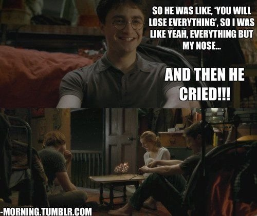 Ron And Hermione When They Know They Both Have A Thing But Don T Yet Act On It Description From Hisdarkm Harry Potter Tumblr Harry Potter Funny Harry Potter