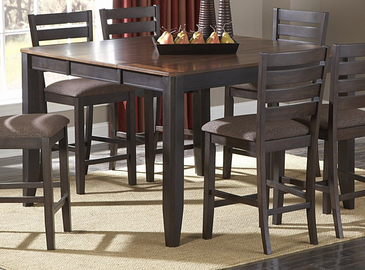 Counter Height Dining Table with Butterfly Leaf ...