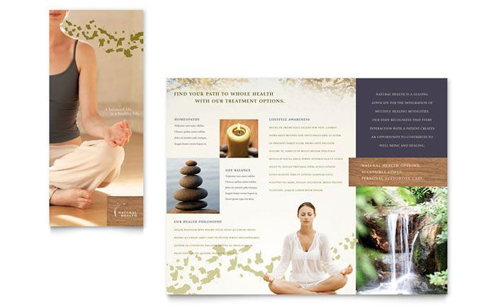 Naturopathic Medicine Brochure Design Template by StockLayouts - medical brochures templates