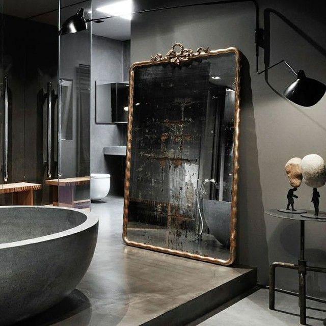Beautiful bathrooms dream black mobilia masculine bathroom powder room also pin by mel vaughn on ideas for the house in pinterest rh