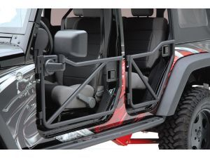 Rancho Tubular Off-Road Doors with Quadratec® Replacement Mirror Kit for 07-14 Jeep Wrangler Unlimited JK