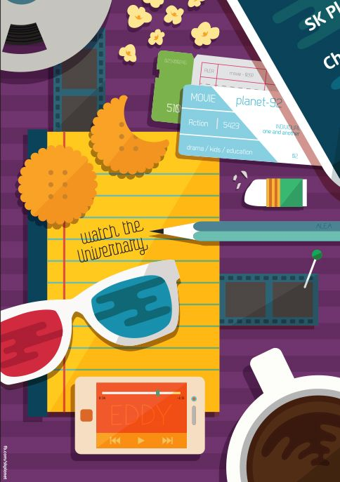 오늘 하루, 꼭 보고 싶은 영화가 있다면?  #Design #Poster #hoppin #SKplanet